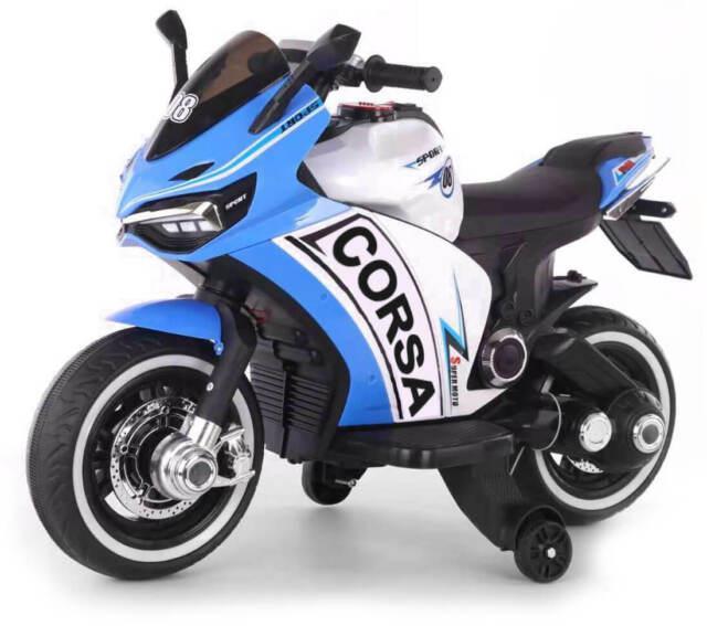Moto elettrica per bambini 12v miller corsa blu