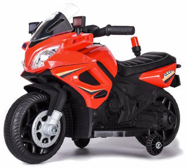 Moto elettrica per bambini 6v kid go police polizia rossa