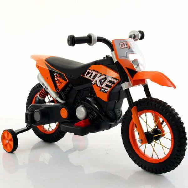 Moto elettrica per bambini 6v kid go ruote gonfiabili