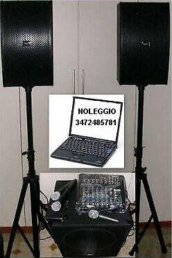 Noleggio attrezzatura audio