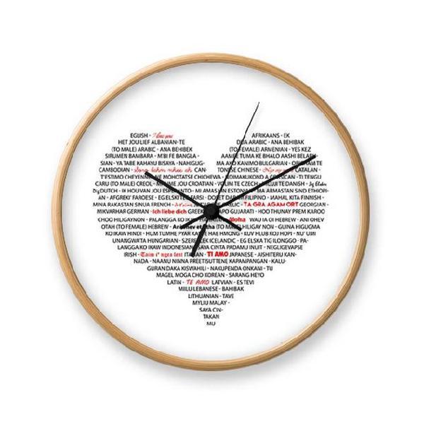 Orologio da parete tomasucci i love you