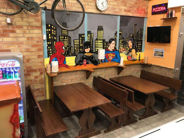 Panca per paninoteca pizzeria pub