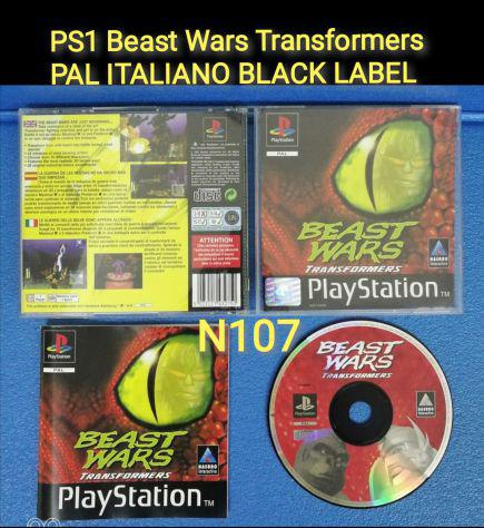 Ps1 beast wars transformers pal italiano black label