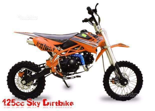 Pit bike cross sky 125cc nuovi