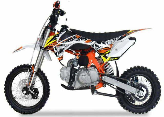 Pitbike crz sport motocicletta da motocross 125cc lem motor