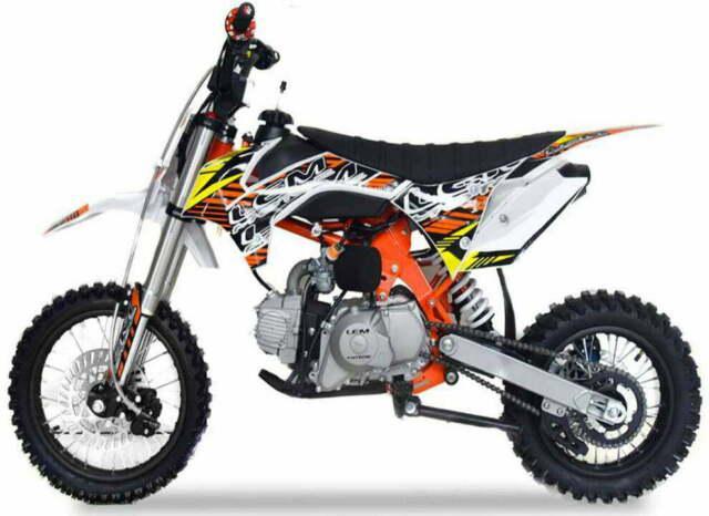 Pitbike motocicletta da motocross lem motor crz 110cc sport