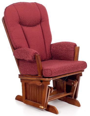 Poltrona a dondolo in legno massello con cuscino my living