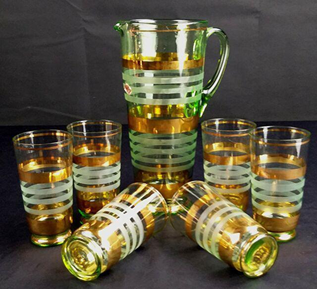 Servizio composto da 6 bicchieri da acqua + caraffa