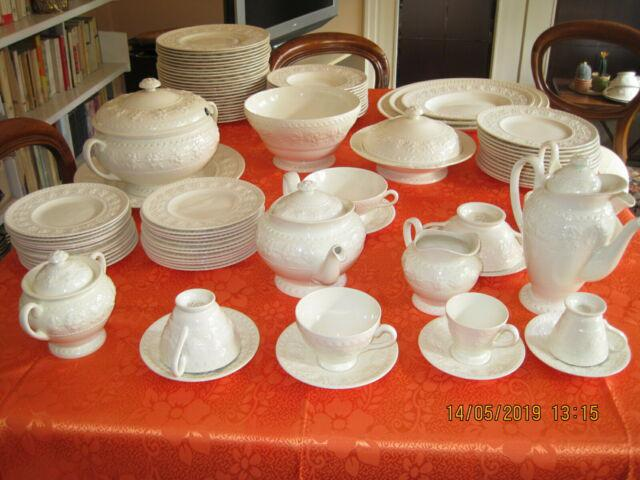 Servizio piatti wedgwood bianco completo per 12, 122 pezzi