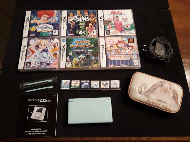 Console nintendo ds lite + caricabatteria + 6 giochi
