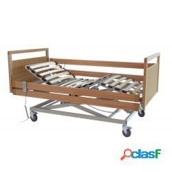 Moretti letto da degenza in legno tre snodi con rete a doghe - elettrico ad altezza variabile - serie gerbera