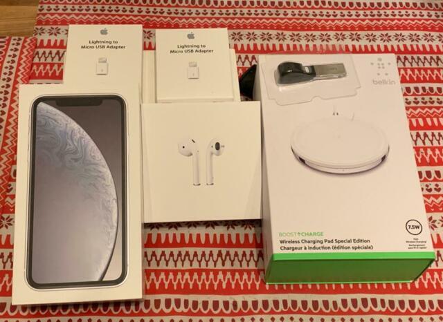 Iphone xr white 128gb con accessori