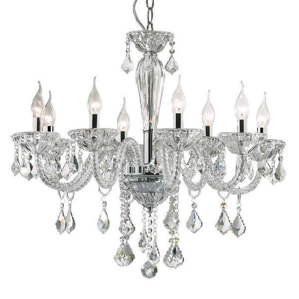 Lampada A Sospensione 8 X 40w E14 Ideal Lux Trasparente