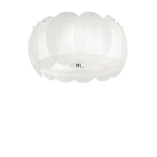 Lampada Da Parete/soffitto 5 X 60w E27 Ideal Lux Bianco