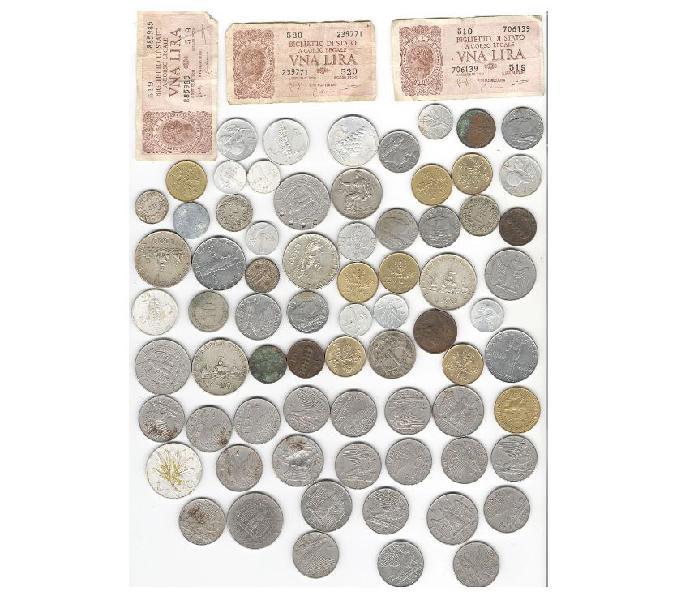 Monete italiane dal 1850 lire vittorio emanuele e estere