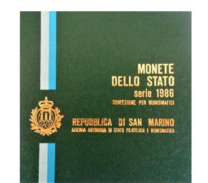 San marino-monete dello stato-monetazione ordinaria 1986