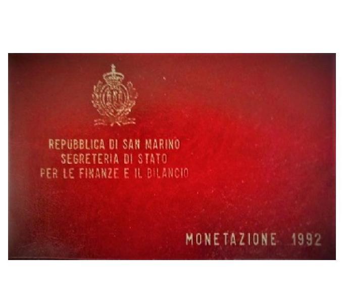 San marino-monete divisionali fdc-anno 1992