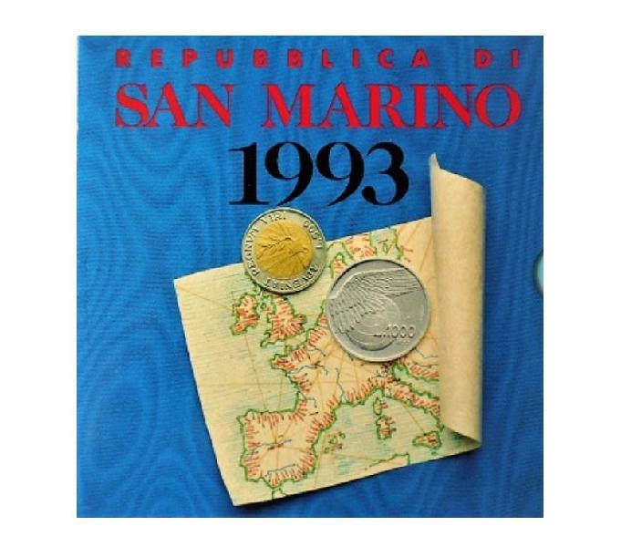 San marino-monete divisionali fdc-anno 1993