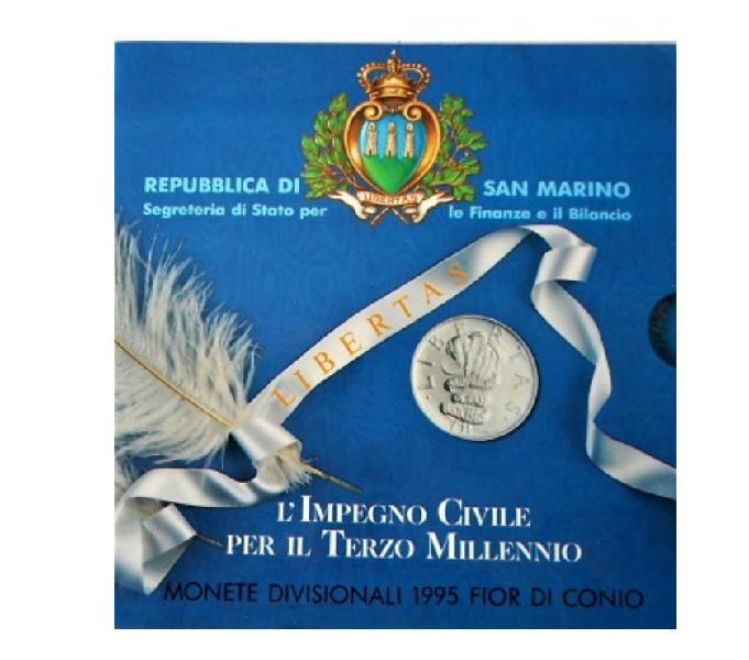 San marino-monete divisionali fdc-anno 1995