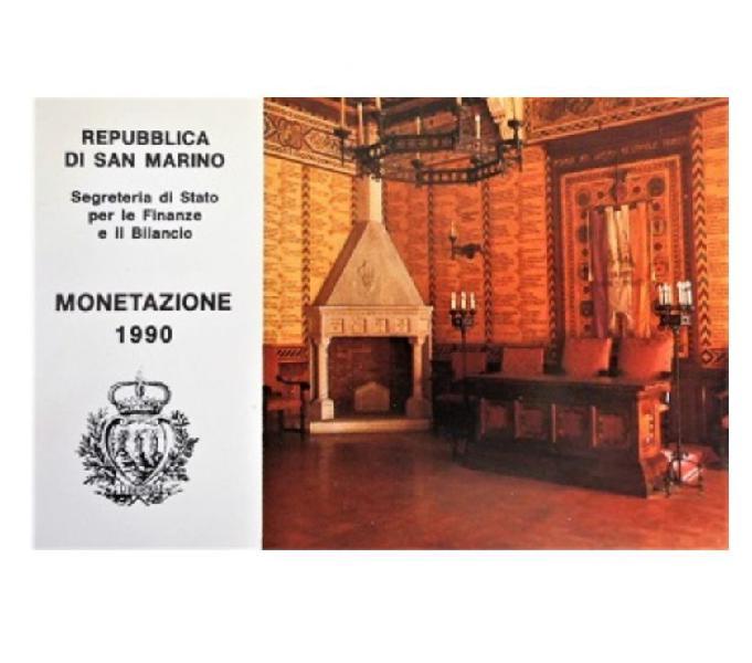 San marino-monete divisionali -.fdc-anno1990