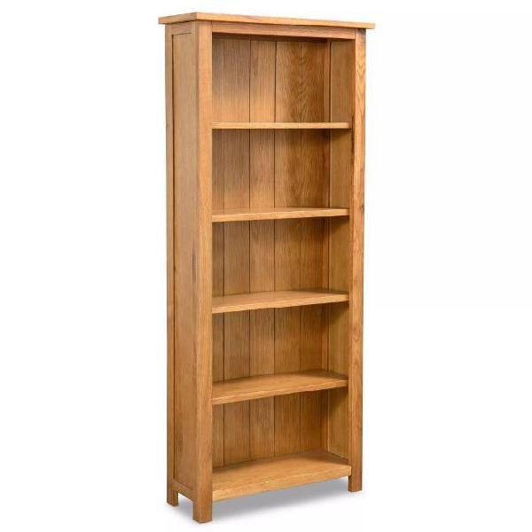 Vidaxl libreria a 5 ripiani 60x22,5x140 cm in massello di