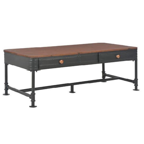 vidaXL Tavolino da Caffè con 2 Cassetti 115x55x40 cm