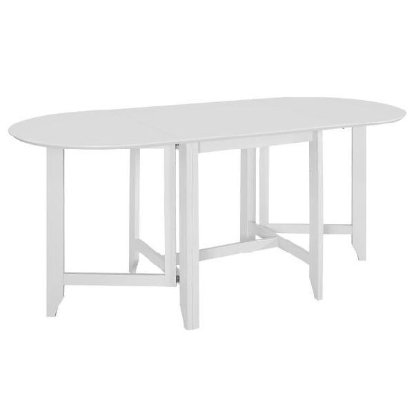 vidaXL Tavolo da Pranzo Estensibile Bianco (75-180) x75x74