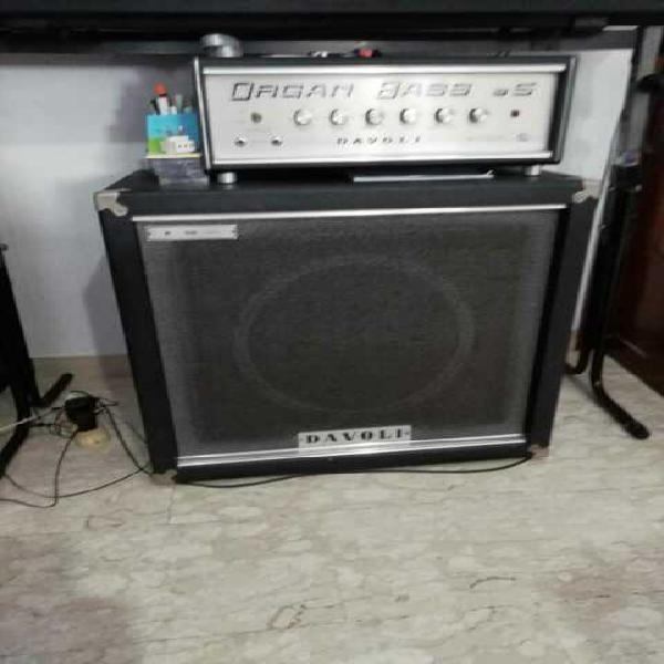 Amplificatore vintage testata&cassa organbass davoli b5