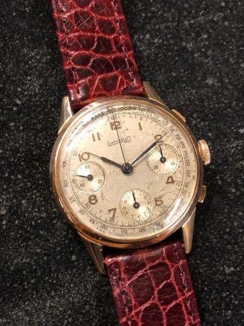 Eberhard cronografo 3 contatori oro 18 kt anni '50