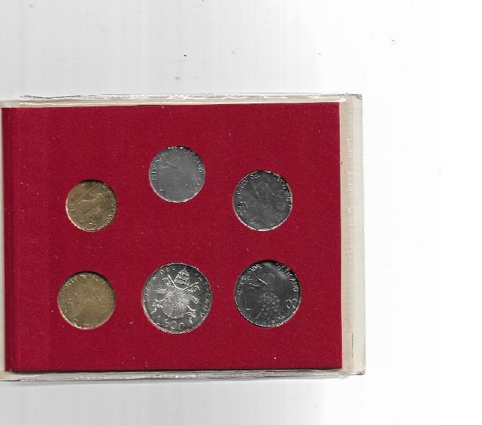 Vaticano papa giovanni paolo ii 1980 fdc folder n 6 monete