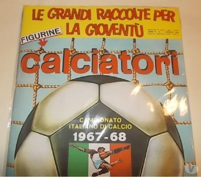 Album calciatori panini 1967-68 sigillato + set figurine