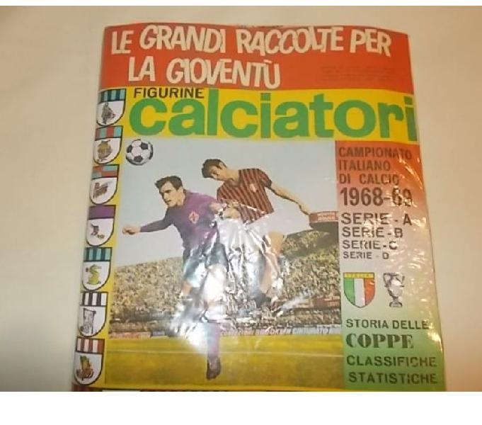 Album calciatori panini 1968-69 sigillato + set figurine