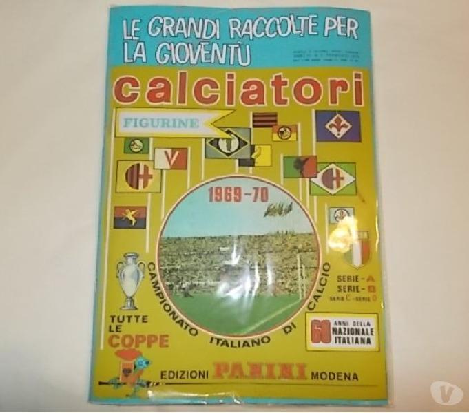Album calciatori panini 1969-70 sigillato + set figurine