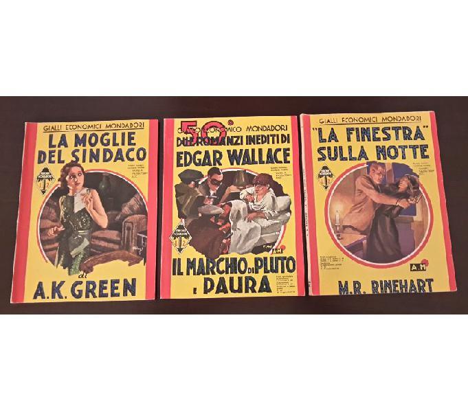 Gialli economici mondadori, n. 39, 50, 83 prime edizioni.