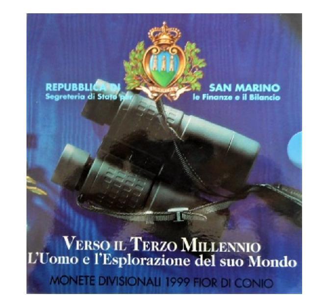 Rep. di san marino-monete divisionali fdc-anno 1999