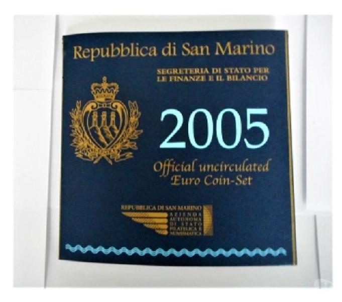 Rep. di san marino-monete divisionali fdc-anno 2005