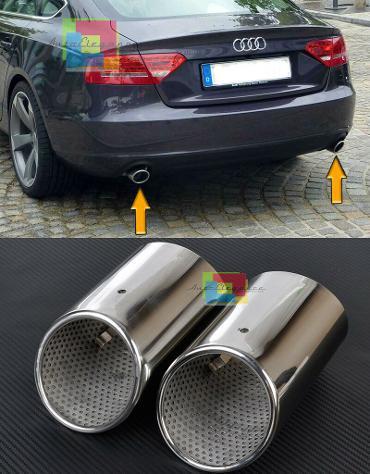 Audi a5 sportback 2008+ coppia terminali di scarico cromati