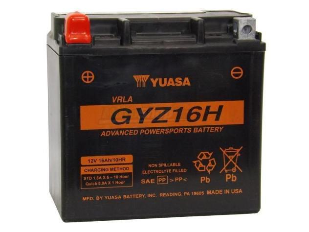 Batteria yuasa gyz16h (ytx14-bs - ytx14h-bs)