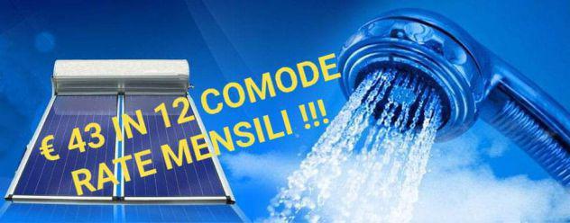 Acqua calda gratis pannello solare termico