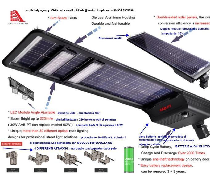 GRANDE ENERGIA SOLARE FARO LAMPADINA LED ROTANTE Decorazione Giardino Patio Luce Nuovo