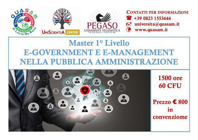 Master e-government e e-management nella pubblica