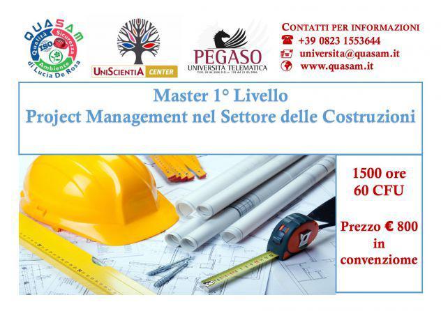 Master project management nel settore delle costruzioni