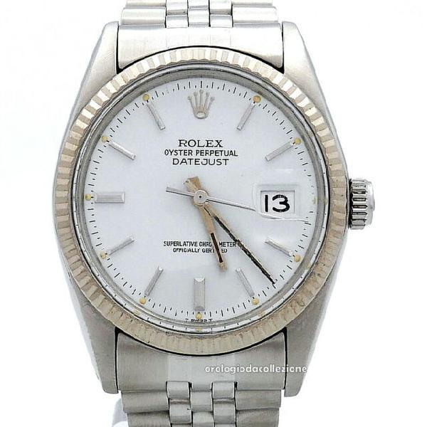 Rolex date just ref. 16014 acciaio quadrante bianco vintage