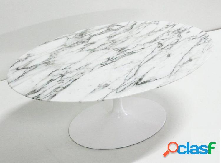 Tavolino saarinen ovale in laminato o marmo