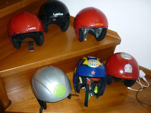Caschi da sci per bambini/ragazzi usati/nuovi da 11 a 16