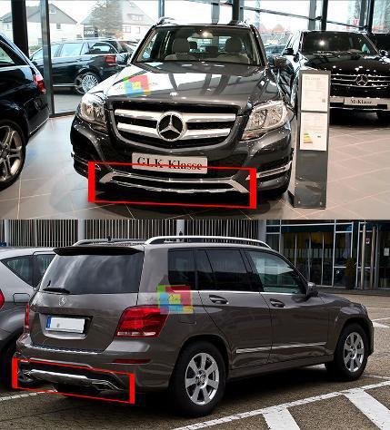 Mercedes glk x204 2013-2016 protezione sotto paraurti
