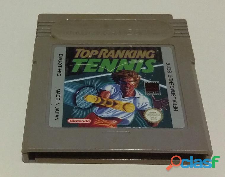 Gioco per nintendo game boy dmg xt frg top ranking tennis made in japan come nuovo