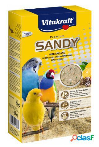 Vitakraft premium sandy sabbia per uccelli