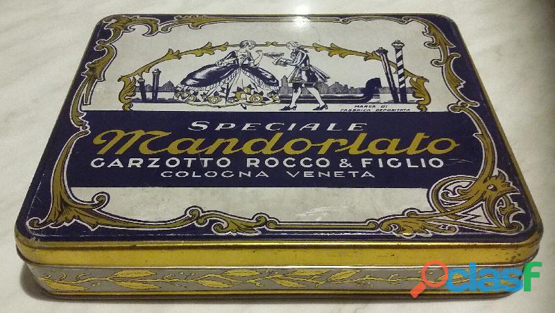 Rara Scatola di Latta Speciale Mandorlato Garzotto Rocco & Figlio Cologna Veneta perfetto