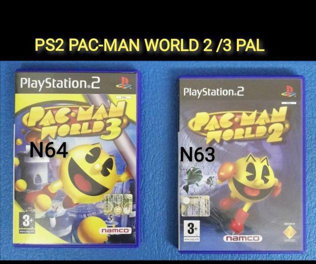 Ps2 pac-man world 2 /3 pal italiano raro